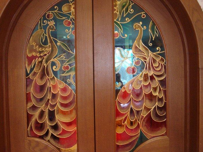 Витражи на межкомнатных дверях своими руками
